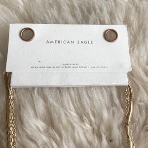 American Eagle 4 pack necklaces